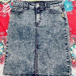 Bettina Liano acid wash 90's Skirt